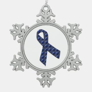 Ornement Flocon De Neige Métallique bleu-foncé