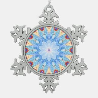 Ornement Flocon De Neige Modèle de tuile de Gaudi