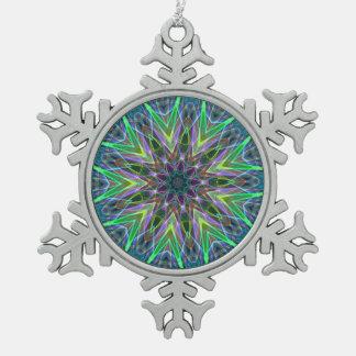 Ornement Flocon De Neige Motif lumineux moderne de mandala de couleurs
