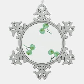 Ornement Flocon De Neige Motif vert de cerise