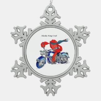 Ornement Flocon De Neige Moto lunatique limule d'Alaska conçue