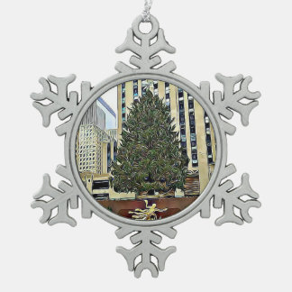 Ornement Flocon De Neige Noël de piste de patinage d'arbre de NYC