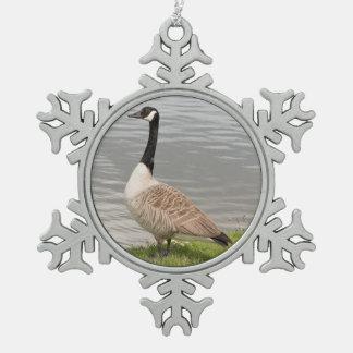 Ornement Flocon De Neige Oie du Canada