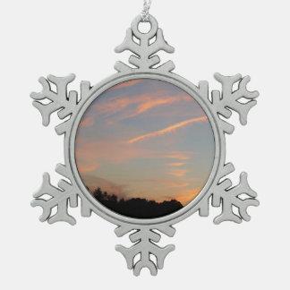 Ornement Flocon De Neige Paysage du Maryland de coucher du soleil