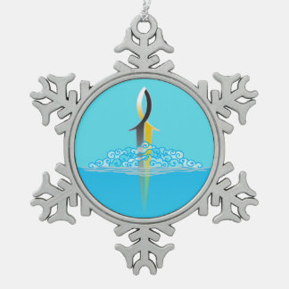 Ornement Flocon De Neige Perforation d'épée de poissons de Jésus par le