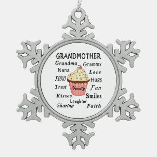 Ornement Flocon De Neige Petits gâteaux pour des grands-mères