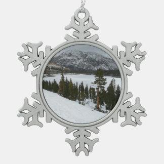 Ornement Flocon De Neige Photographie d'hiver de la Californie de lac snowy