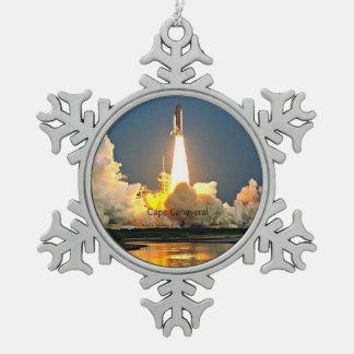 Ornement Flocon De Neige Plate-forme de lancement de Cap Canaveral la