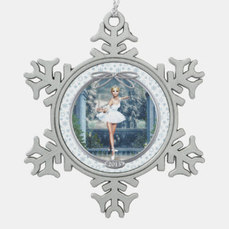 Ornement Flocon De Neige Princesse Ballerina Pewter Snowflake Ornament de
