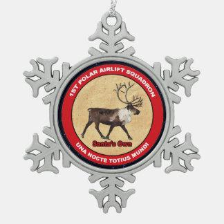 Ornement Flocon De Neige Propres de Père Noël - ęr escadron polaire de