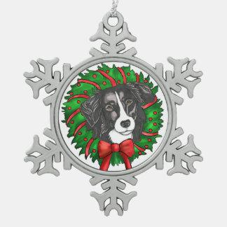 Ornement Flocon De Neige Rassemblement de l'ornement de chien