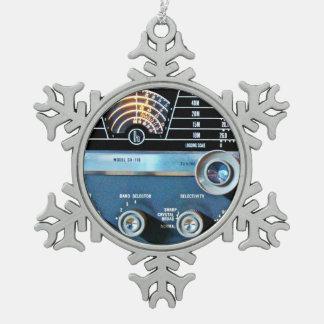 Ornement Flocon De Neige Récepteur radioélectrique d'ondes courtes vintages