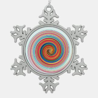 Ornement Flocon De Neige Remous de couleur primaire