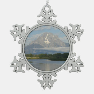 Ornement Flocon De Neige Rivière de Jackson Hole