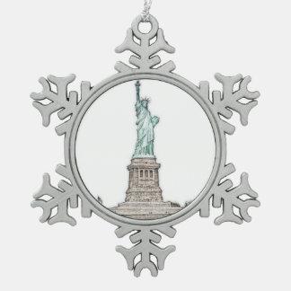 Ornement Flocon De Neige Statue faite sur commande de Noël de New York City