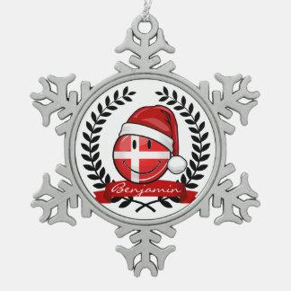 Ornement Flocon De Neige Style de Noël du Danemark
