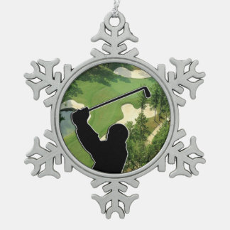 Ornement Flocon De Neige Terrain de golf
