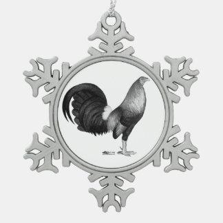 Ornement Flocon De Neige Trappe de rouge de coq de combat