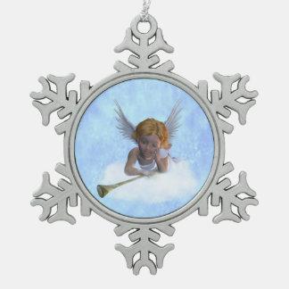 Ornement Flocon De Neige Un ange de chérubin doux