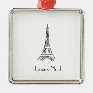Ornement français de Noël de Tour Eiffel de Paris