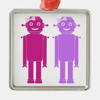 Ornement gai de vacances des robots LGBT de fille