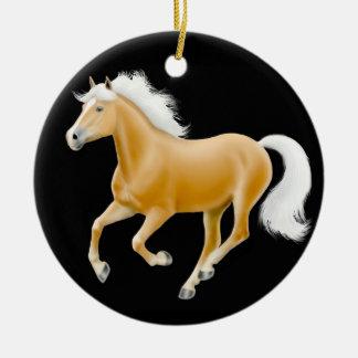 Ornement galopant de cheval de Haflinger