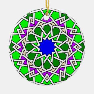 Ornement géométrique islamique de motif