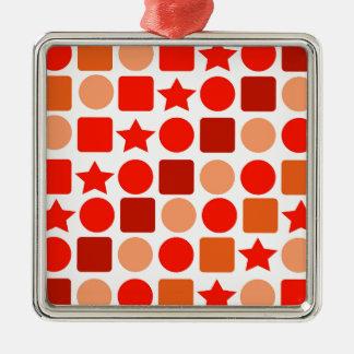 Ornement géométrique orange