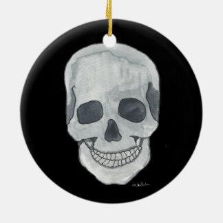 Ornement gris de cercle de crâne