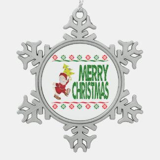Ornement laid de chandail de Noël d'arbre de Noël
