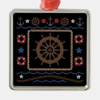 Ornement laid de chandail de roue nautique de