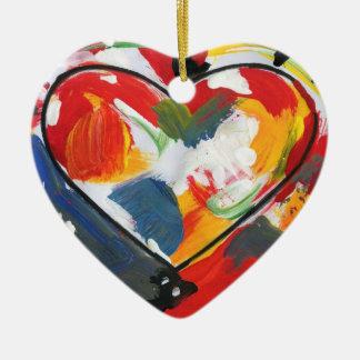 ornement maximum coloré de coeur de style de 60s