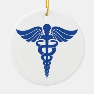 Ornement médical de Noël de caducée