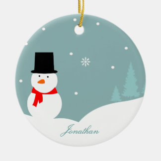 Ornement mignon d'arbre de Noël de bonhomme de