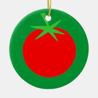 Ornement Rond En Céramique Ornement mignon d'arbre de Noël de jardinier de