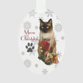 Ornement mignon de Noël de chat siamois