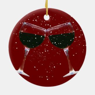 Ornement mignon de Noël de pays de vin