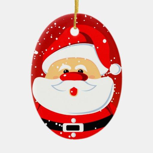 Père Noel Mignon Ornement Mignon de Noël du