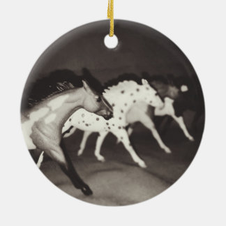 Ornement modèle de Noël de cheval de Breyer