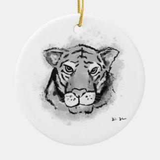 Ornement noir d'encre de tigre