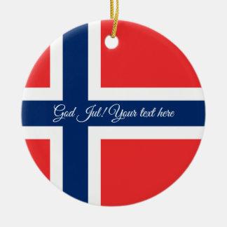 Ornement norvégien d'arbre de Noël de juillet de