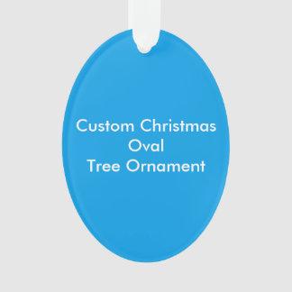 Ornement ovale d'arbre de Noël fait sur commande
