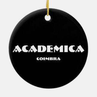 Ornement ovale de Noël d'Academica