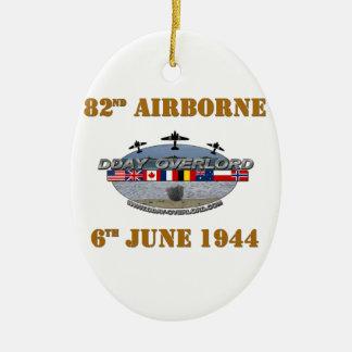 Ornement Ovale En Céramique 82nd Airborne Division 6th June 1944