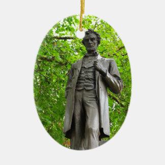 Ornement Ovale En Céramique Abraham Lincoln
