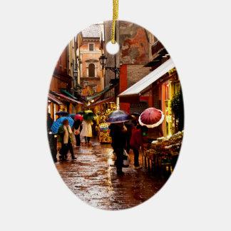 Ornement Ovale En Céramique Achat sous la pluie