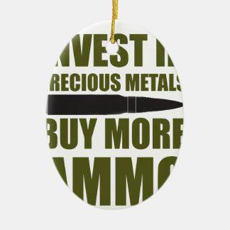 Ornement Ovale En Céramique Achetez plus de munitions, les investissez en
