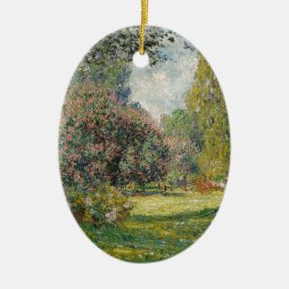 Ornement Ovale En Céramique Aménagez le Parc Monceau - Claude Monet en parc