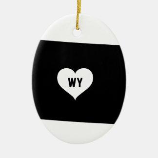 Ornement Ovale En Céramique Amour du Wyoming