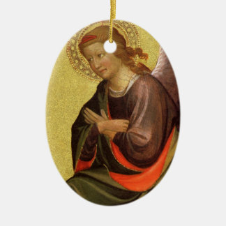 Ornement Ovale En Céramique Ange de la Renaissance par le maître du Bambino